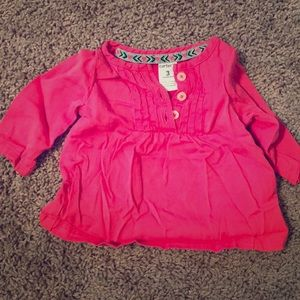 Pink Long Sleeve Baby Blouse